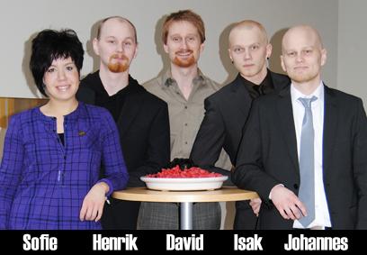 Foto av Johannes Berglund, Isak Lundin, David Bismark och Henrik Lundin