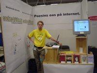 Recitos monter på Bok- och biblioteksmässan 2003 - ganska liten!